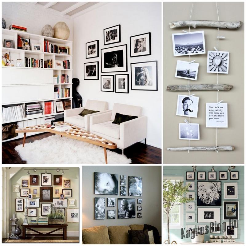 Как расположить фотографии на стене