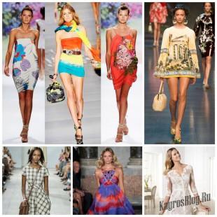 Летние платья для модниц - сезон 2015