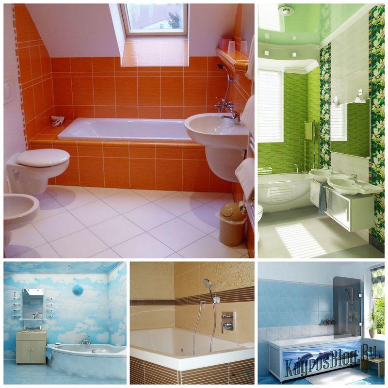 Пластиковые панели для облицовки стен ванной
