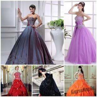 Цвет свадебного платья: каждой девушке свое платье
