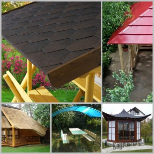 Крыша для садовой беседки