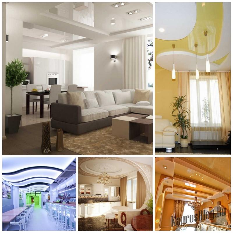 Натяжные потолки с подсветкой - отличный выбор для любого интерьера