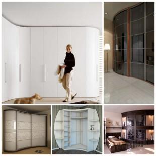 Радиусные шкафы-купе – украшение любой квартиры