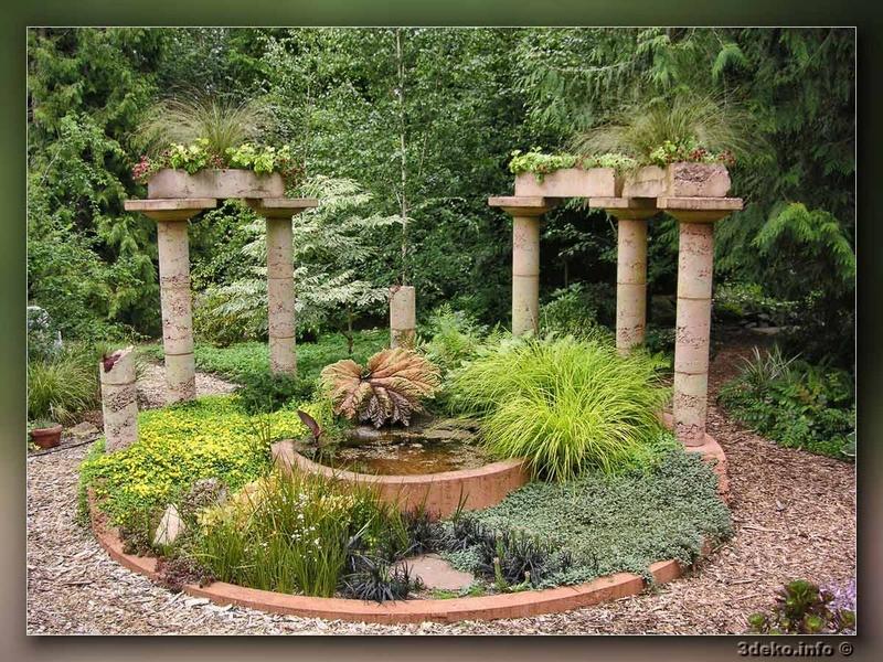 Малые архитектурные формы в саду фотографии