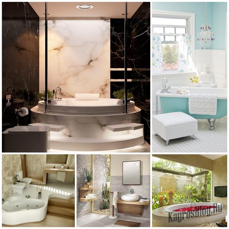 Три способа создать уникальный дизайн ванной комнаты