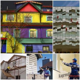 Окрашивание фасада - выбор краски и этапы процесса