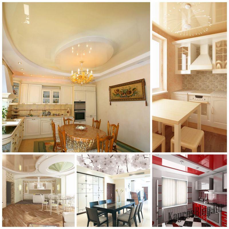Развеем мифы о натяжных потолках на кухне