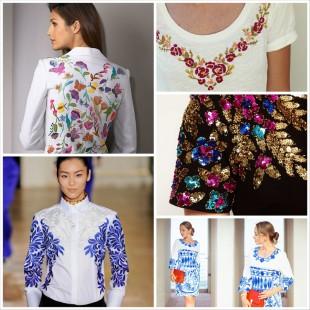 Украшение одежды вышивкой - модный тренд