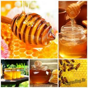 Мед - натуральный продукт для здоровье из улья