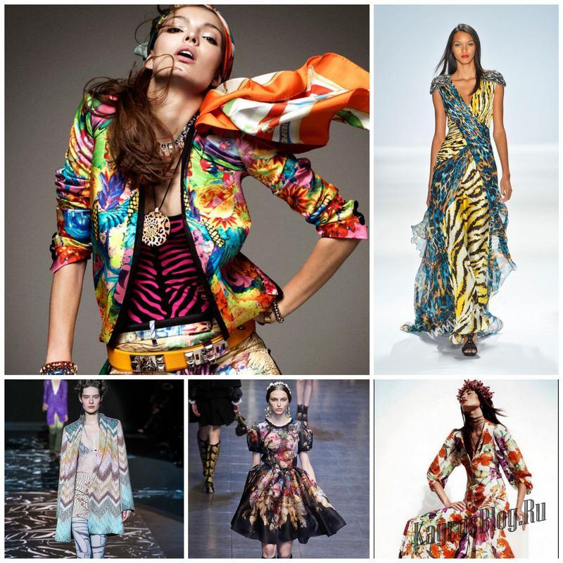 Принты в одежде как их носить и сочетать между собой