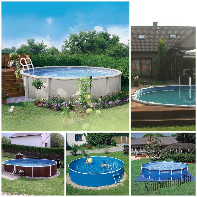 Оптимальный вариант для дачи — монтаж каркасного бассейна