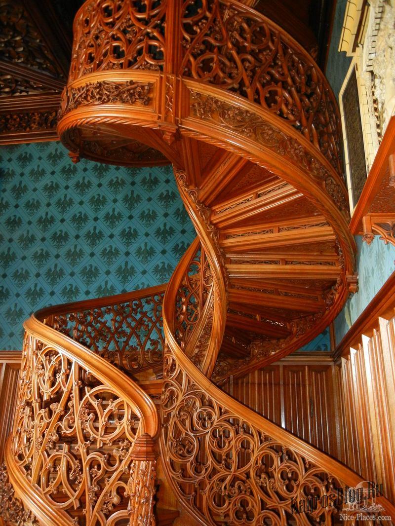 Деревянные резные винтовые лестницы своими руками 899