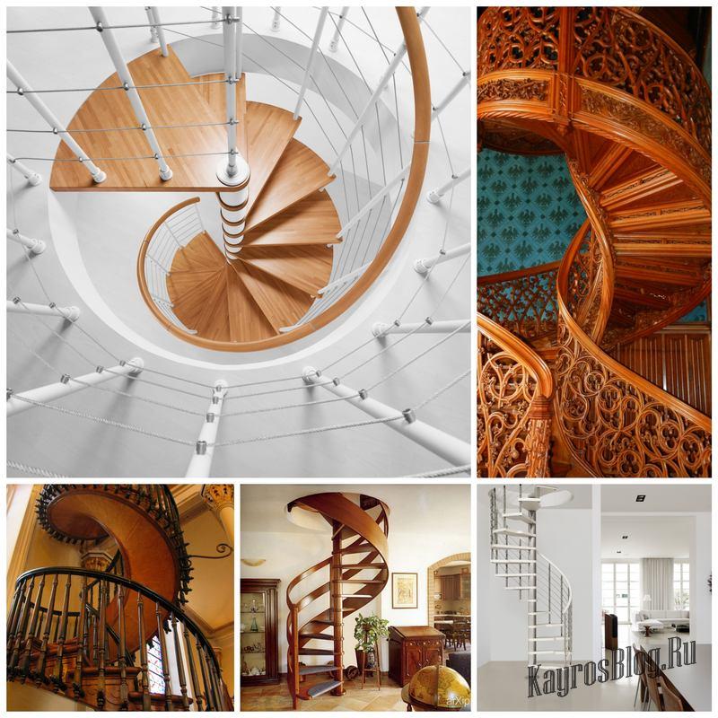 Правильная винтовая лестница на второй этаж своими руками и ее состав