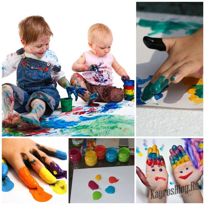 С какого возраста можно рисовать пальчиковыми красками?