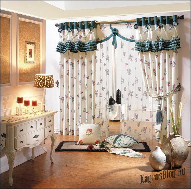 Модные шторы для гостиной фото