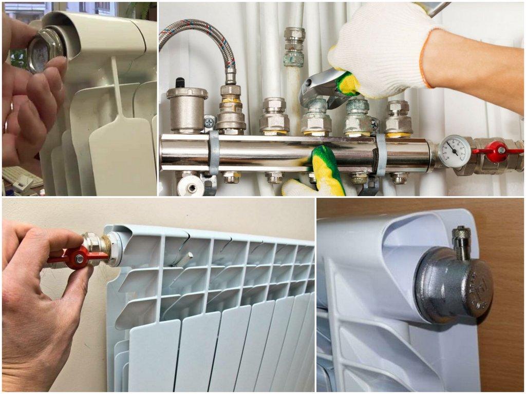 Стравливание воздуха индивидуальной системы отопления