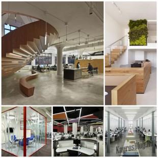 Дизайн офисного помещения и открытое пространство