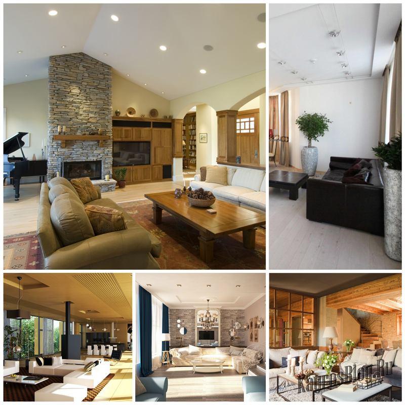 Интерьер гостиной в частном доме - советы по оформлению