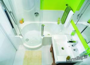 Интерьер маленькой ванной тоже можно обустроить по вашему вкусу 1