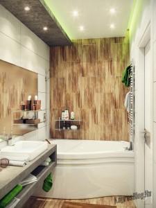Интерьер маленькой ванной тоже можно обустроить по вашему вкусу 4