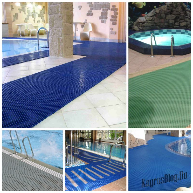 Как выбрать антискользящие покрытия для бассейнов