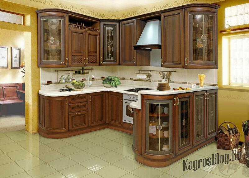 Деревянные кухонные гарнитуры фото