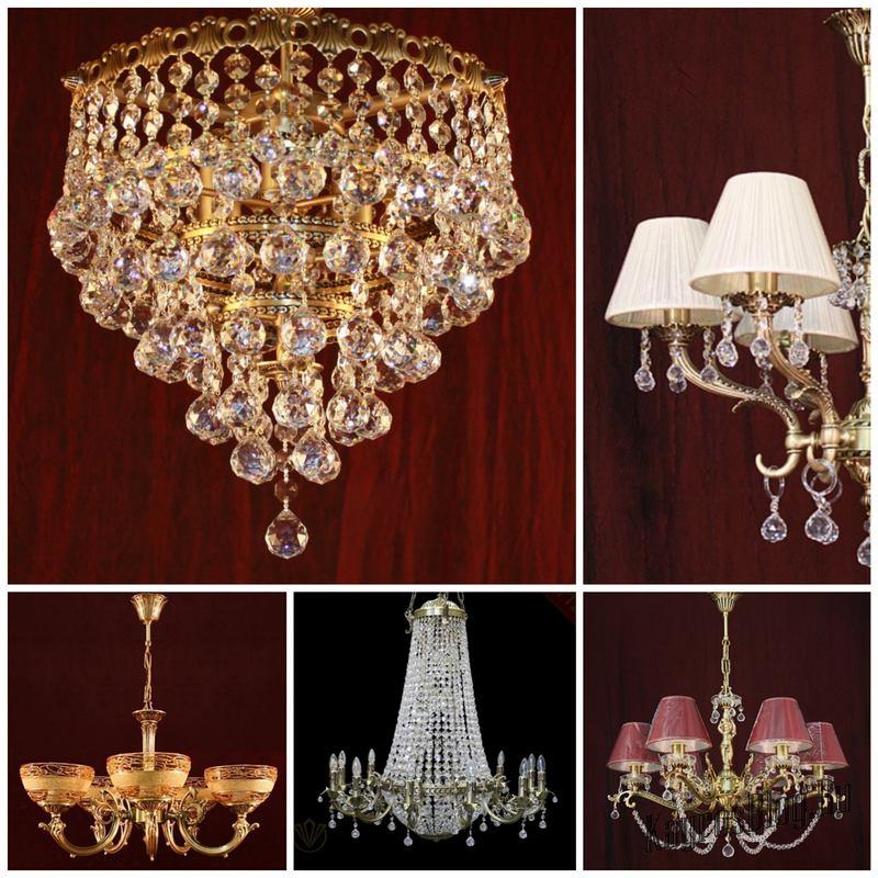 Люстры и светильники из импорных материалов от фабрики Лампада
