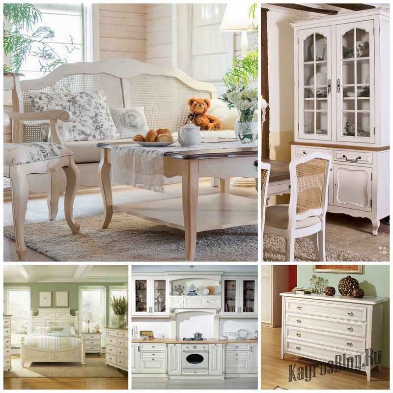 Мебель прованс – это лучший выбор