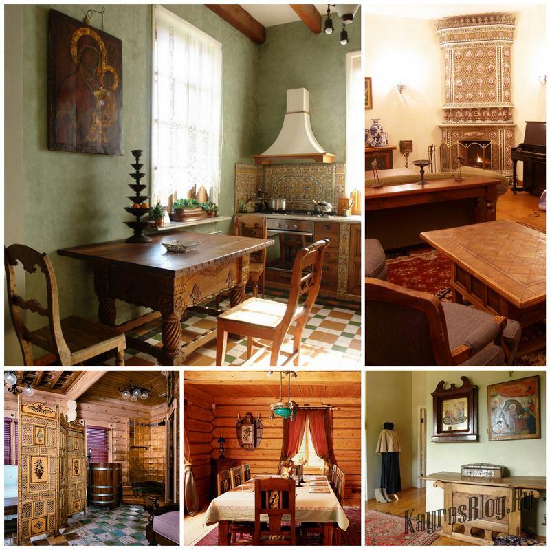 Русский стиль в интерьере современного дома