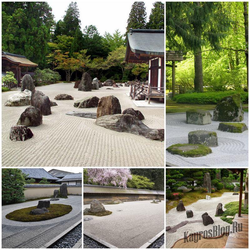 Сад камней - одно из наиболее интересных решений в ландшафтном дизайне