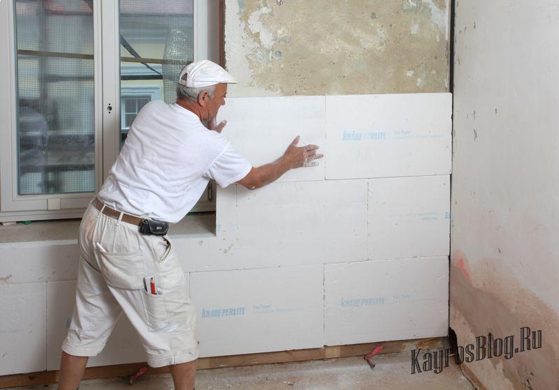 Как утеплить стены в доме своими руками