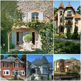 Фасады частных домов – выбираем лучший вариант