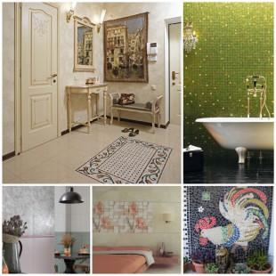 Использование керамической плитки в интерьере квартиры