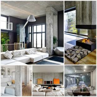 Бетон в дизайне интерьера - модный тренд