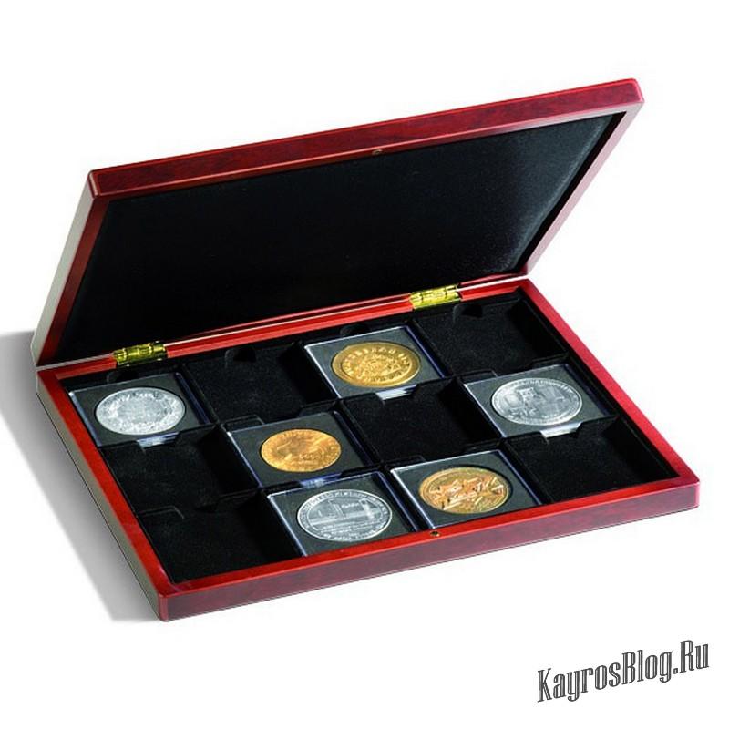 Способы хранения монет: альбомы, холдеры и капсулы.