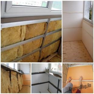 Способы самостоятельного утепления балкона