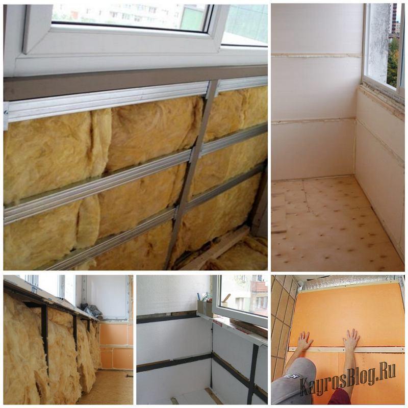 Способы самостоятельного утепления балкона.