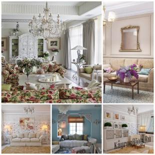 Дизайн гостиной в стиле прованс - уютная красота
