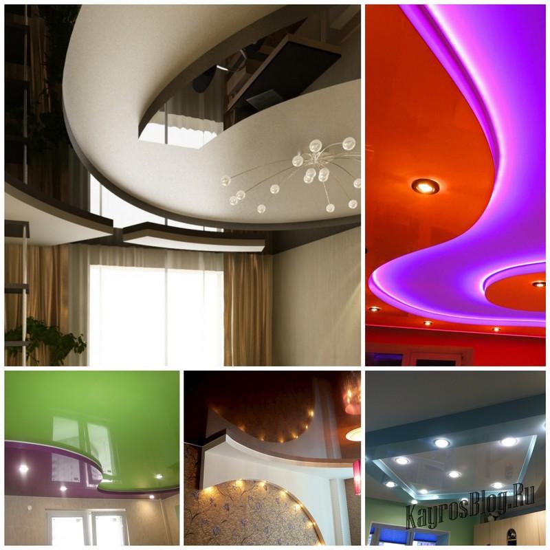 Многоуровневые натяжные потолки в интерьере вашего дома