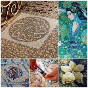 Панно из керамической плитки: делаем своими руками!