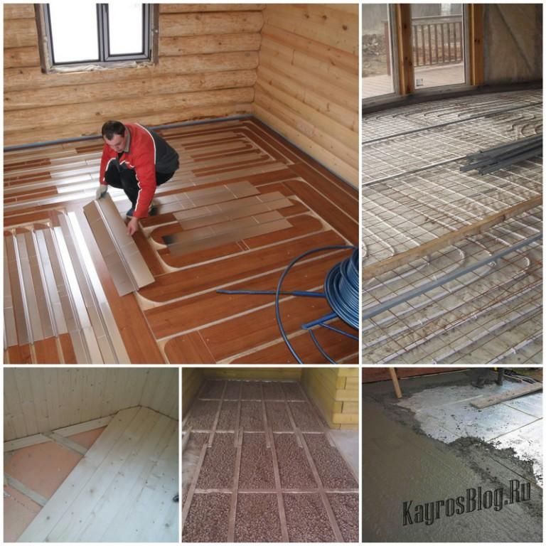 Строим дом своими руками теплый пол