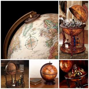 Глобус на деревянной подставке придаст уюта любой комнате