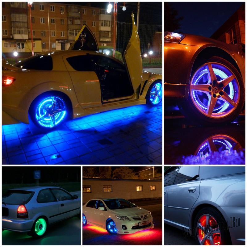 Как самостоятельно сделать подсветку на автомобильных дисках