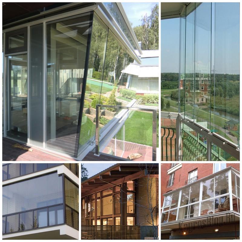 Современные варианты остекления балконов.