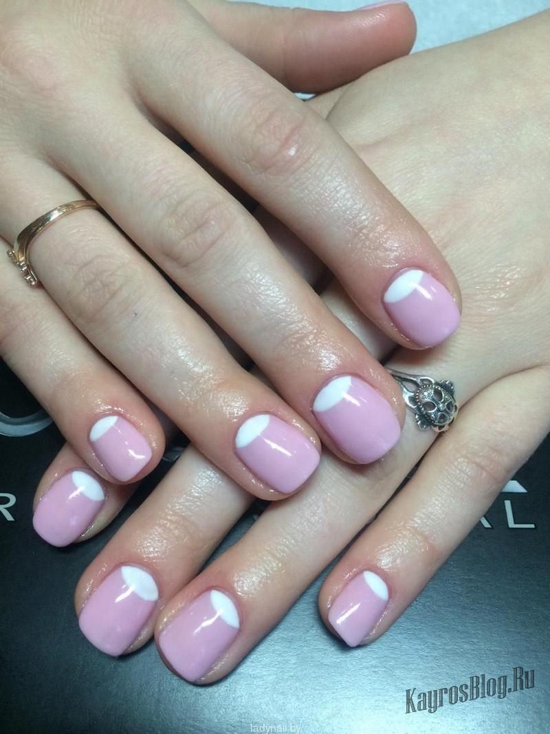 Маникюр на короткие ногти лаком