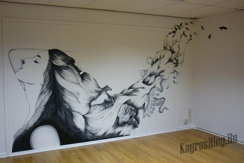 фото рисунки на стене