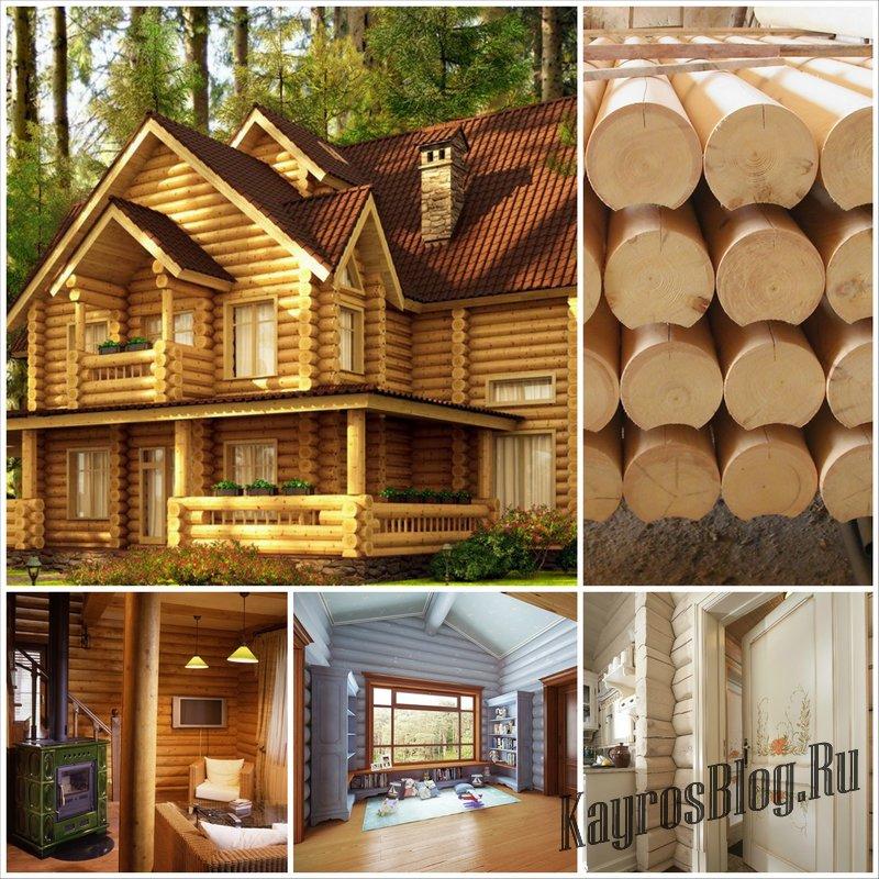 Особенности строительства дома из оцилиндрованного бревна
