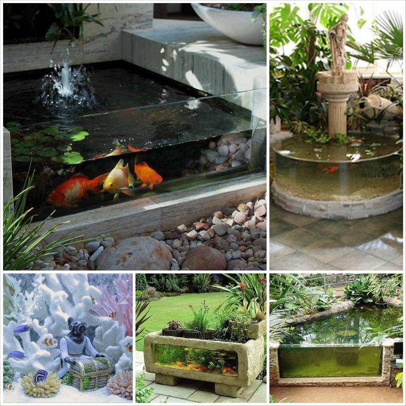 Садовый аквариум - особенности оформления