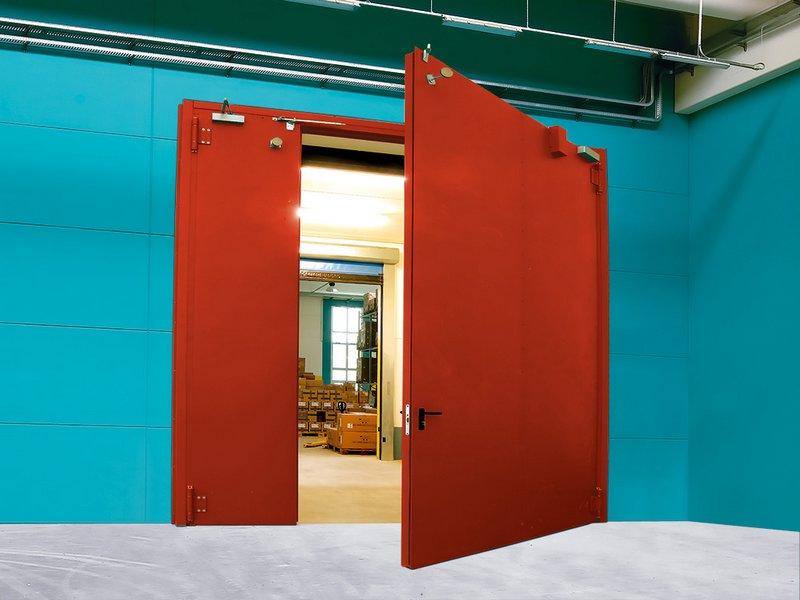 двери ворота противопожарные металлические