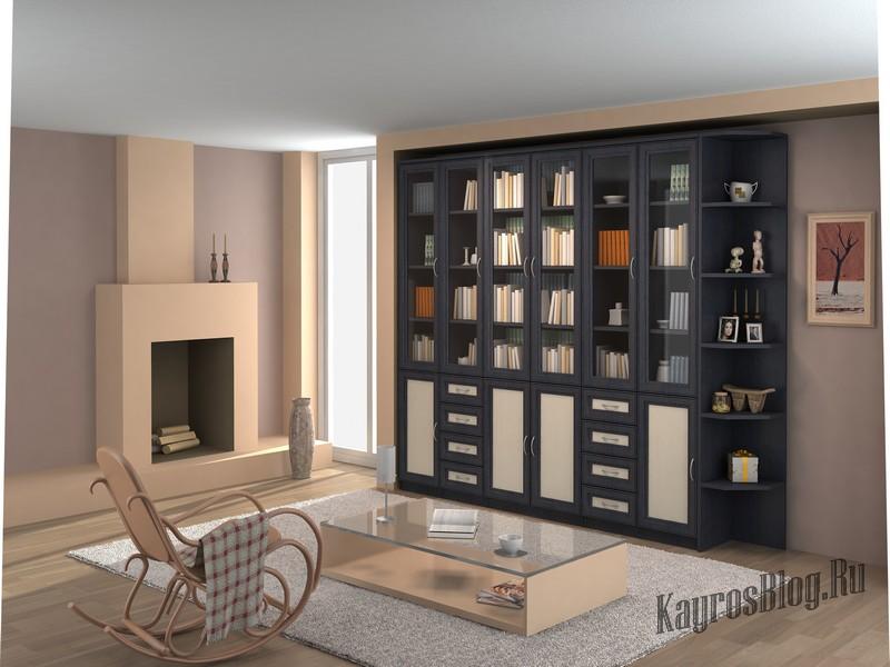 высокие узкие шкафчики для гостиной